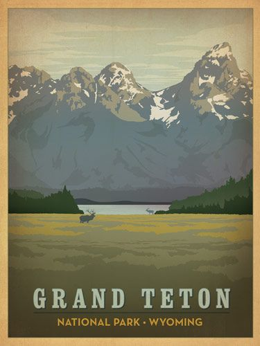 Grand Tetons National Park Wyoming, I would like to hang framed posters like this in my home office.