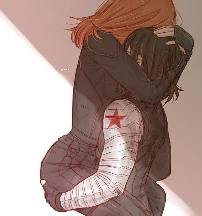 """""""You're a good man."""" BuckyNat #winterwidow"""