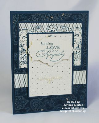 Sentiment is from Love & Sympathy stamp set.