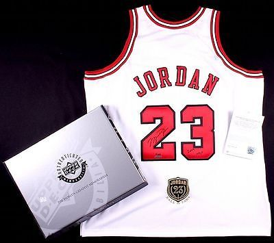 """Michael #jordan autographed """"hof 2009"""" #bulls home authentic #jersey uda le of 12,  View more on the LINK: http://www.zeppy.io/product/gb/2/331997286282/"""