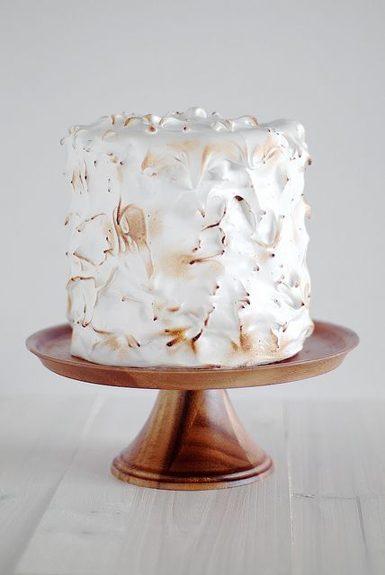 Lemon Cake with Meringue Frosting...<3