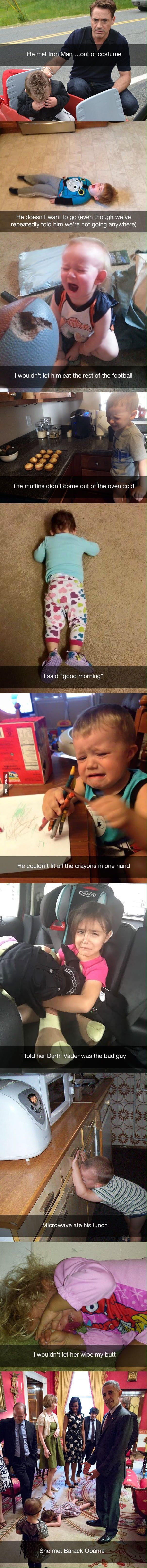 Stupid reasons why kids cry - Imgur