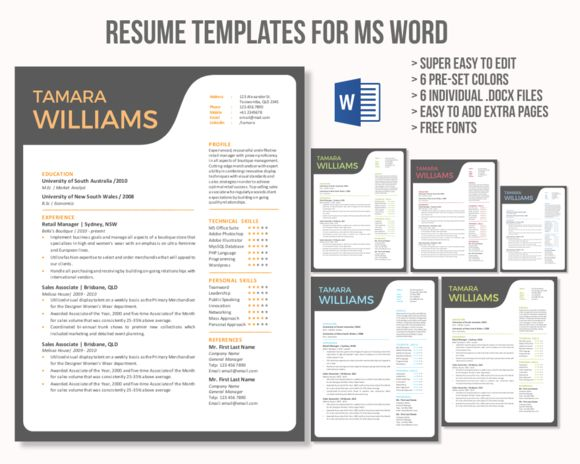 resume resume cv resume design best resume templates creativemarket