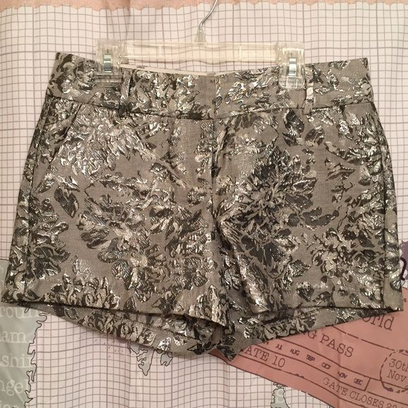 $ INCREASE ON 1/1- LC shiny silver shorts Stylish shorts for going out or dressing up! True to size Lauren Conrad Shorts