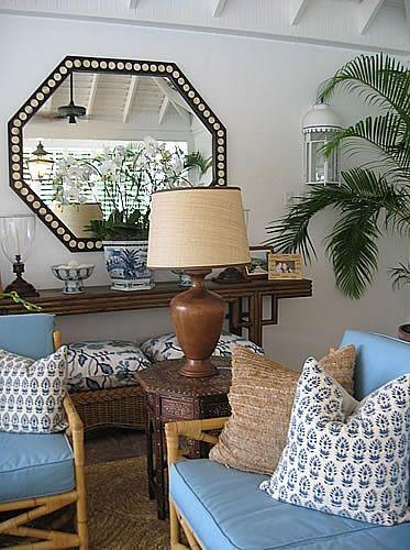 Tropical style  Round Hill - Meg Braff Interiors