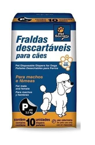 fralda descartável p/ cães c/ até 3,5kilos. super absorvente