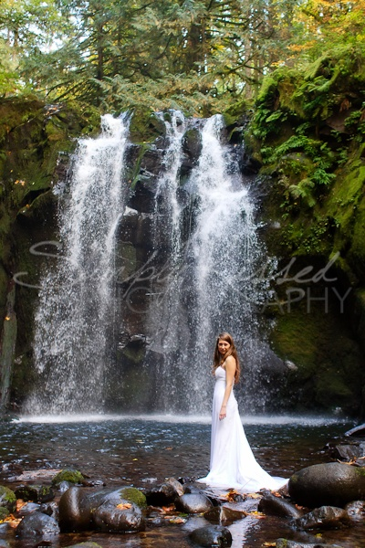 If it's possible to have a waterfall in my wedding, I would.