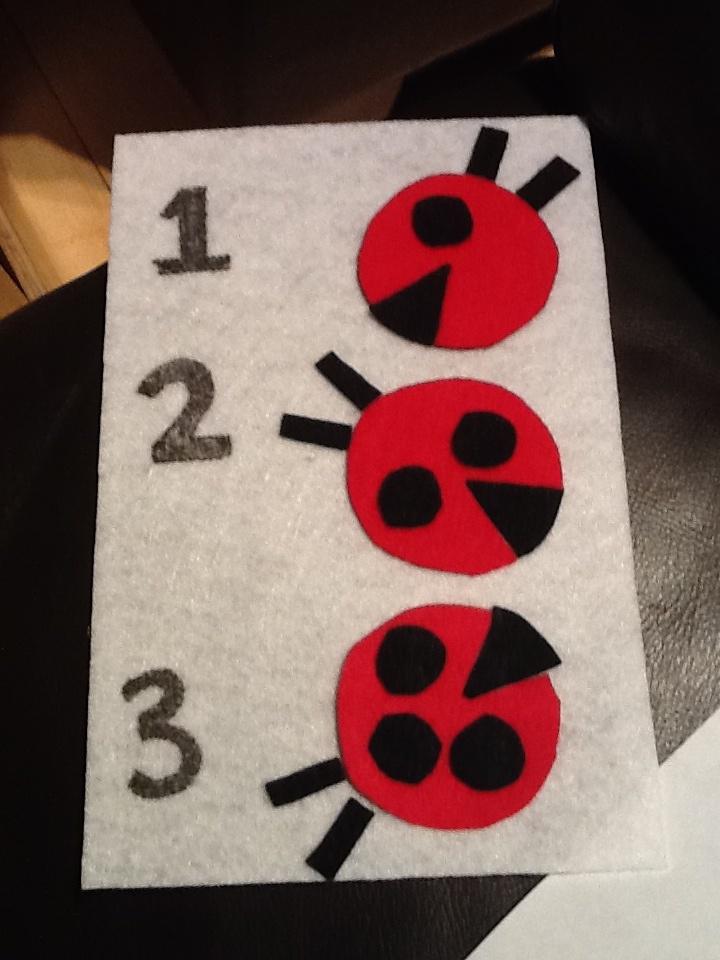 Ladybug quiet book page