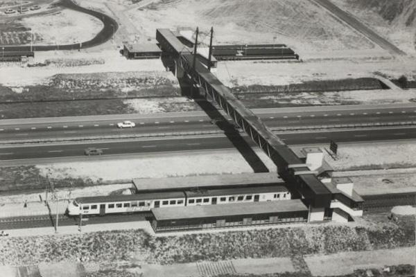 Voorloper van de huidige Mandelabrug in Zoetermeer