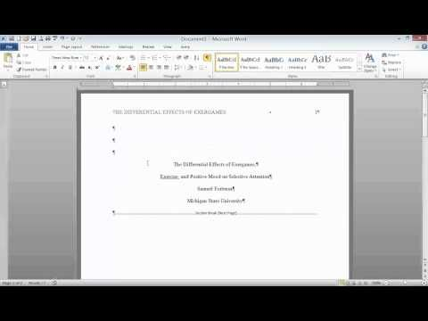 "APA Format: Title Page, Running Head, and Section Headings - YouTube. Very helpful tip about ""unlink to previous"" in header so cover page is different from title page"