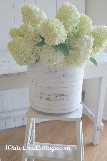 Vintage Ice Cream Bucket to Shabby Chic Planter with lovely old fashioned