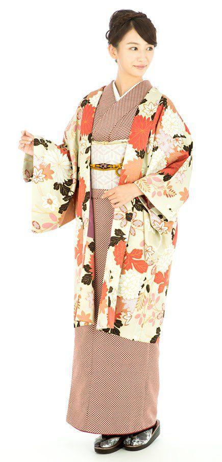 Japan - Haori - hip or thigh-length jacket, worn over a kimono or kosode