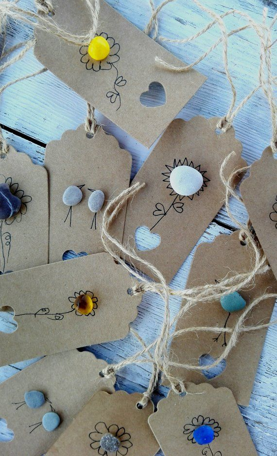 20 pebble art labels tags labels for gift packaging packaging