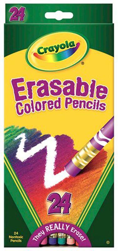 Erasable Colored Pencils 24 Count   Main photo (Cover)