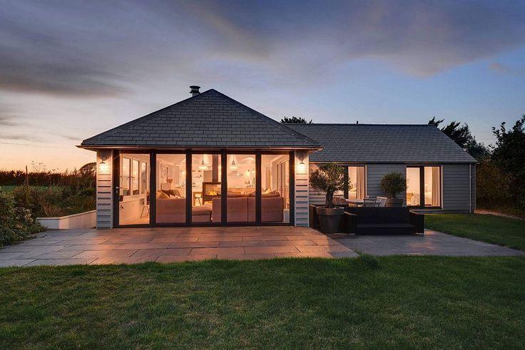 Contemporary remodel of 1960s bungalow in South Hams