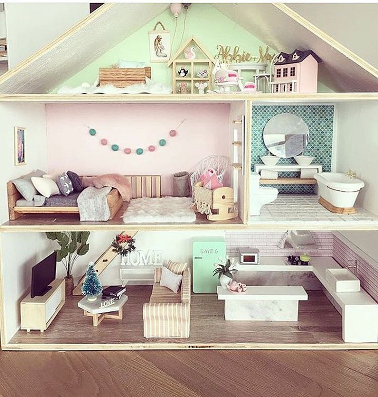 Great ideas for young Georgia's doll house!!!! She will be one very soon! Almost ready to play with it all yay!!!! I have to get my butt into gear to make the decor for the house she has!!! Eeeek!!!!