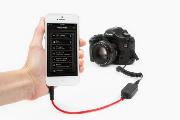 Triggertrap - Turn your phone, pad, or pod into an intelligent remote trigger for your camera. ($30.00, http://photojojo.com/store)