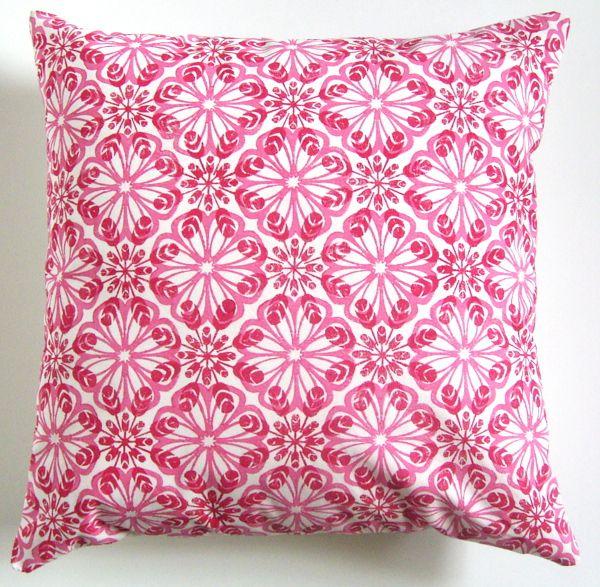 Lino printed cushion cover
