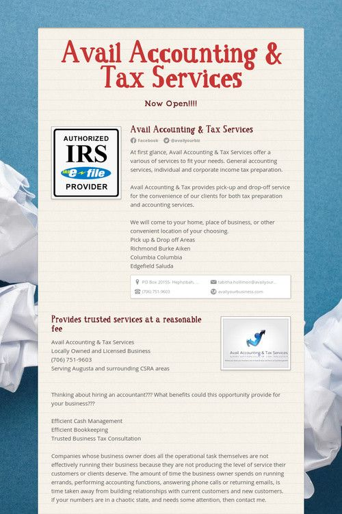 81 Best TAX SERVICES Images On Pinterest Accounting Services