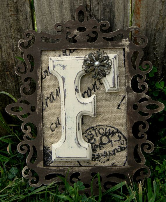 This wooden letter is surrounded by a uniquely designed wooden frame and makes a great decoration for any room. The letter and the frame are hand