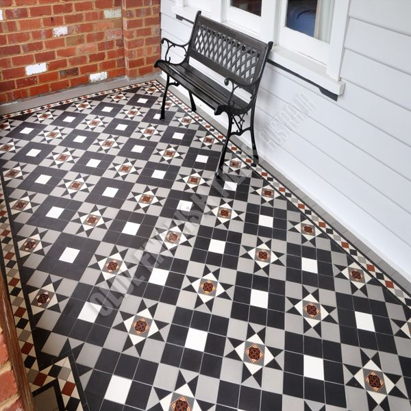 Liverpool pattern with Norwood border - Verandahs Image 10 of 82