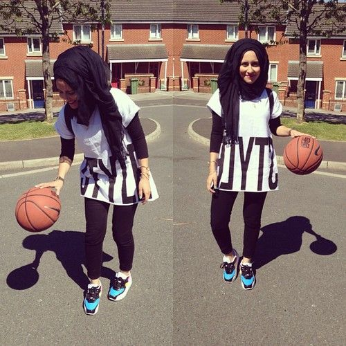 Re pinned : young muslim girls/teenagers engage in sports such as basketball, netball and soccer, team sports which require a lot of phsyical activity. Therefore the garment must be breathable and where the shape of this may appear comfortable, there are a fee layers of clothing to complete the outfit. My aim is to minimise the layers whilst maintaining modesty.