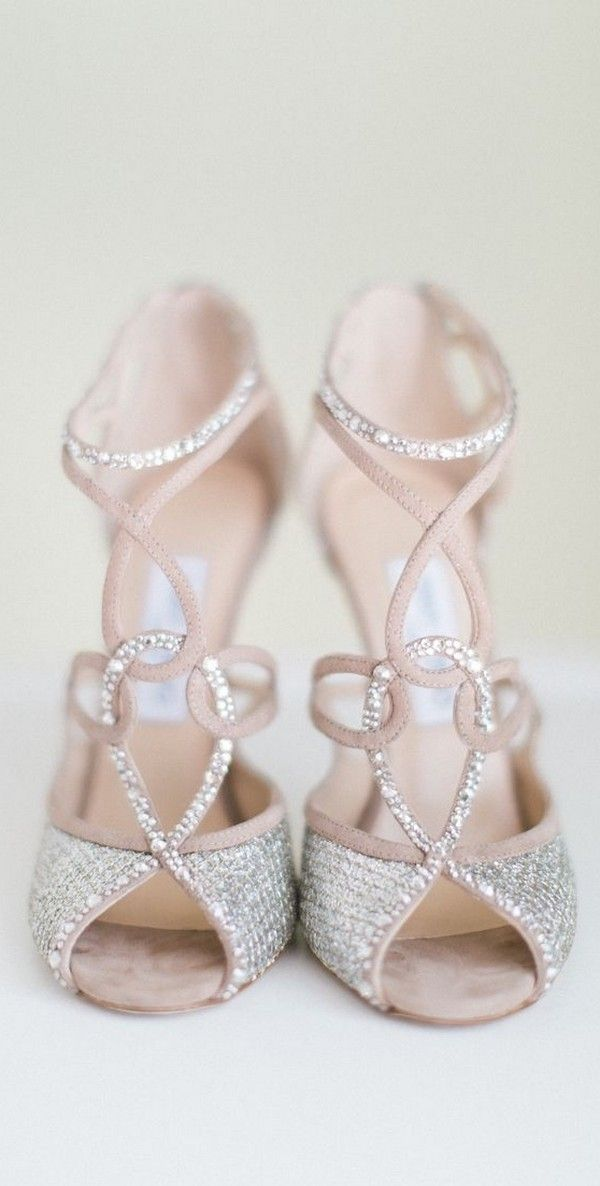 nude bling sandals wedding shoes for 2017
