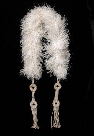 Feather boa, 1920s. Gotta be Ostrich.