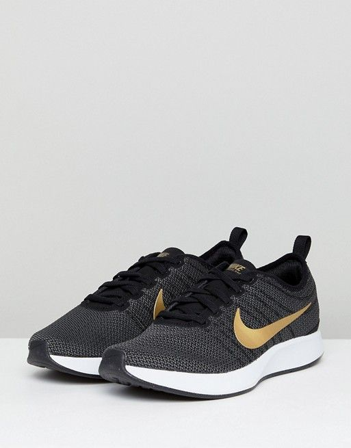 pretty nice 545a4 66e12 Nike Dualtone Racer Trainers In Black And Gold at asos.com