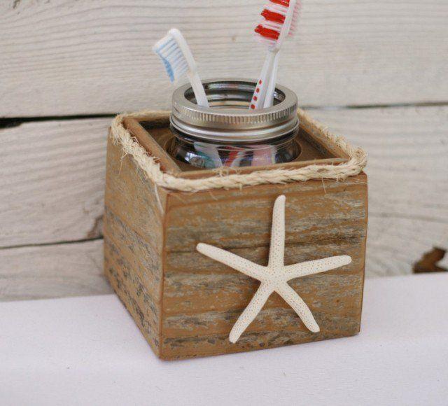 décoration-salle-bain-style-nautique-accessoires-étoile-mer