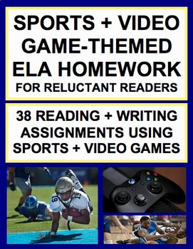 MARCH MADNESS Homework!!! Engage Reluctant Readers: 38 NO PREP CCSS-aligned sports & video-game homework assignments! Practice every single reading literature standard PLUS informational, persuasive and narrative writing!! Your student will LOVE homework! #MarchMadnessactivitiesforkids #MarchMadnessActivities