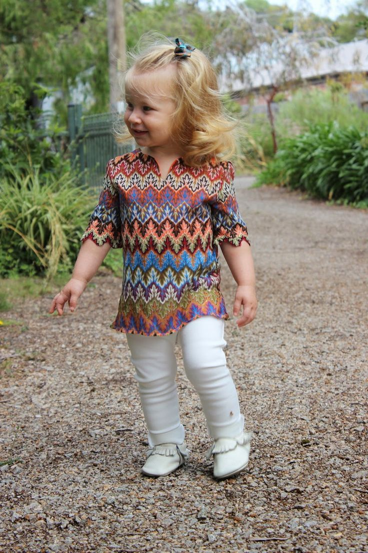 Multi Coloured Kaleidoscope Knit Toddler Tunic Dress Top By Mini Rada Priya