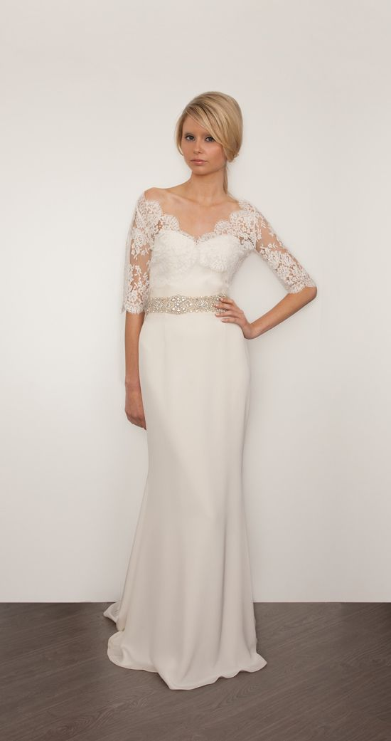so the lace sleeves are perfect if they would go all the way down. i dont like the rest of the dress