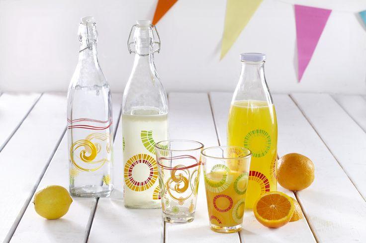 Bottles for cold water or the fresh orange juice!  Μπουκάλια για το παγωμένο νερό ή τον φυσικό χυμό!