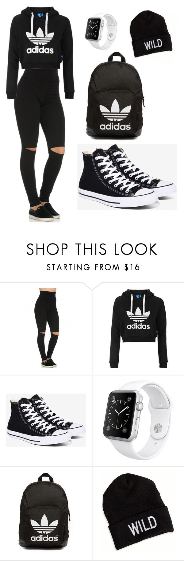 """My Everyday Style"" by toyaboswell ❤ liked on Polyvore featuring Topshop, Converse, Apple, adidas Originals and American Eagle Outfitters"