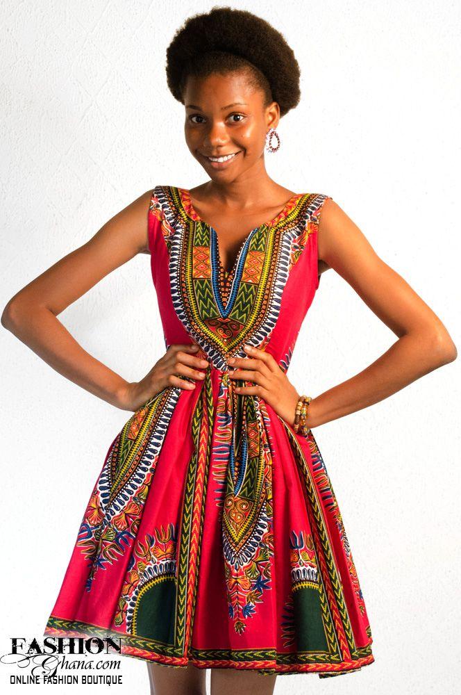 Mislyn African Print Skater Dress - FashionGHANA.com lurrrrrve this so so so much