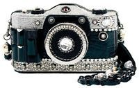 Mary Frances Snapshot Camera Black Vintage Bag Purse Handbag NEW Winter 2014