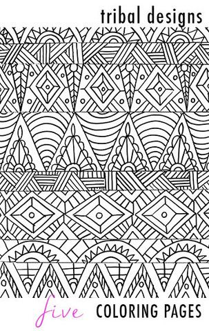 17 best images about art coloring on pinterest coloring for Tribal coloring pages