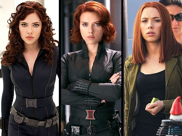 Scarlett Johansson Red Hair, Black Widow Outfit, Captain America ...
