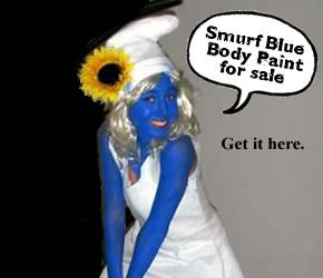 Dress up like smurfette coloring