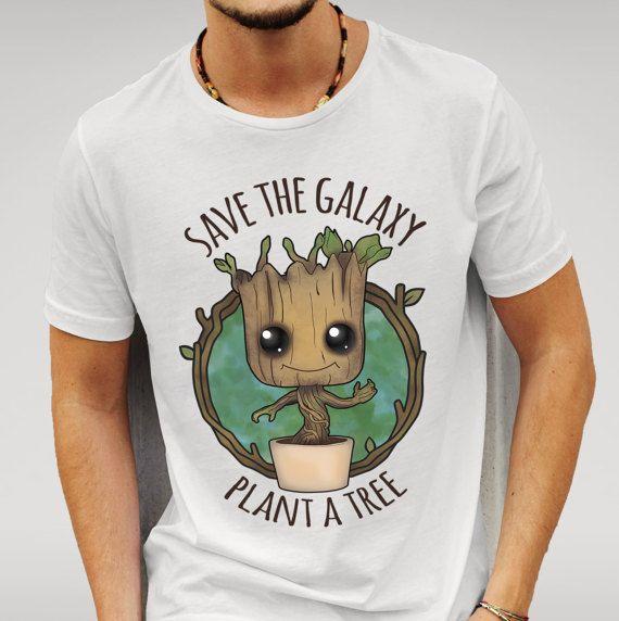 Sauvez la galaxie plante un arbre T-Shirt drôle bébé Groot gardiens de la galaxie inspiré Superhero Comic Movie Tee
