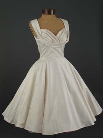 Trashy Diva 50's Style Antique White Informal Wedding Dress