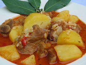 Delicioso plato de cuchara, de toda la vida, pero más rapidito con la olla GM , Patatas guisadas con costillas .