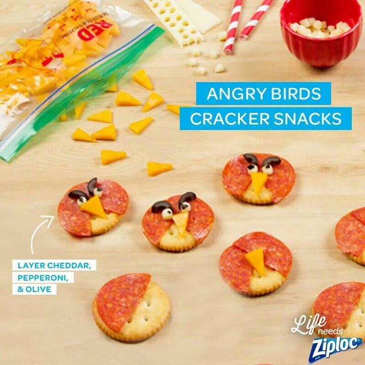 Angry birds cracker snacks