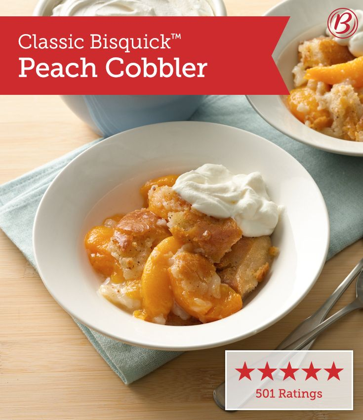 You can use canned, frozen or fresh peaches in this classic cobbler dessert. Betty fans have prepared it all three ways, and it's a hit every time no matter the season!