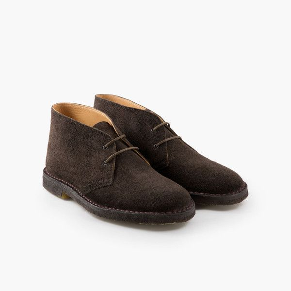 Desert Boots in Italian Suede – Brown