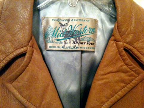 Retro Womans Mid Western Brand Real Leather Jacket #retro #vintage