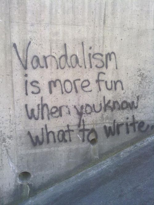 vandalism is more fun when you know what to write.