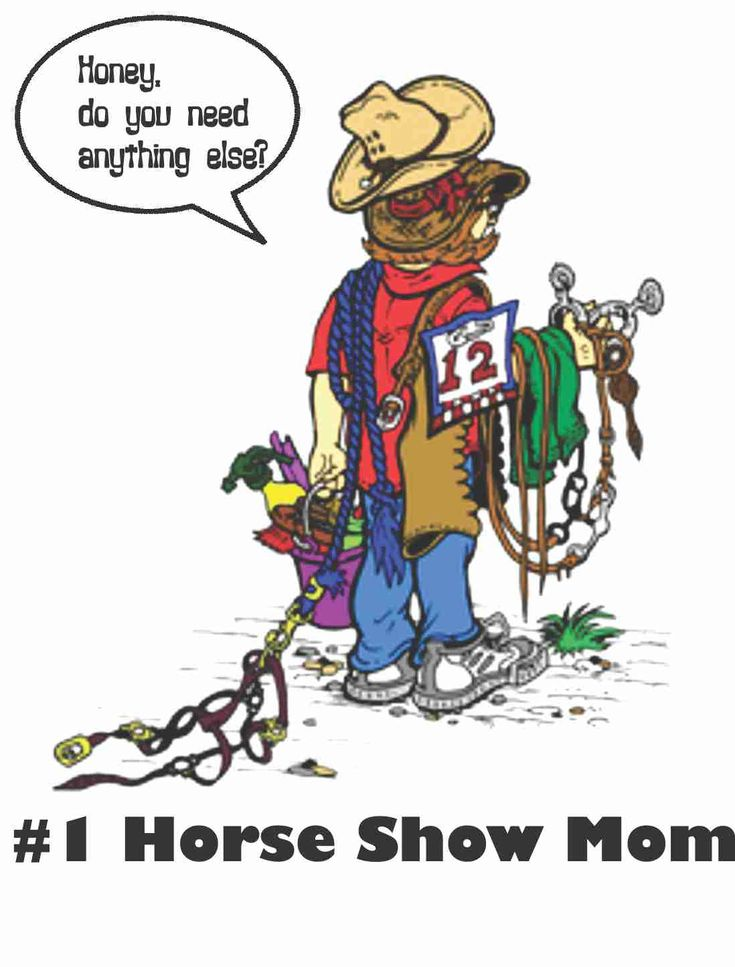 Lol! This is really quite an accurate picture of show days....just so I do not have to run back back to the van 15 million times! Lol