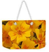 Tagette Marigold Blossoms Macro Weekender Tote Bag by Sandra Foster